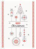 Merry Christmas greeting card template Stock Image