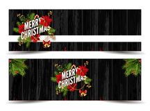 Merry Christmas greeting card template. Stock Photo