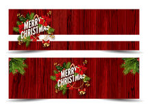 Merry Christmas greeting card template. Royalty Free Stock Photography