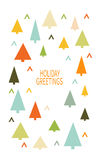 Merry Christmas Greeting Card. With Christmas tree. Multicolored triangle. Winter holiday design. Vector illustration royalty free illustration