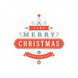Merry Christmas Greeting Card Vector Background. Merry Christmas Greeting Card and Decorations Vector Background. Christmas tree from typography elements and Royalty Free Stock Image
