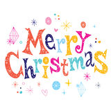 Merry Christmas greeting card. Vector design Royalty Free Stock Image