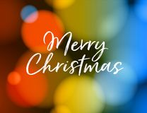 Merry Christmas Greeting Card. Vector EPS 10. No mesh. For your print and web messages : greeting cards, banners, posters, invitations Royalty Free Stock Images