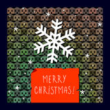 Merry christmas greeting card Stock Photo