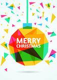 Merry Christmas Greeting Card. Vector illustration.  stock illustration