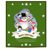 Merry Christmas Greeting Card vector. Illustration stock illustration