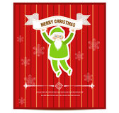 Merry Christmas Greeting Card vector. Illustration royalty free illustration