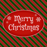 Merry christmas greeting card. Vector illustration Royalty Free Stock Image