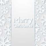 Merry Christmas greeting card. Vector illustration Stock Images