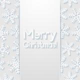 Merry Christmas greeting card. Vector illustration Stock Photos