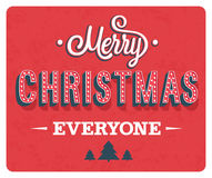 Merry Christmas greeting card. Royalty Free Stock Photo