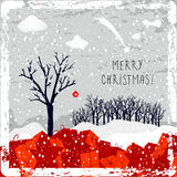 Merry christmas greeting card Stock Images