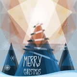Merry Christmas greeting card Stock Photography