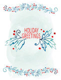 Merry Christmas Greeting Card. Winter holiday design. Vector illustration royalty free illustration