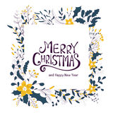 Merry Christmas greeting card. Royalty Free Stock Photos