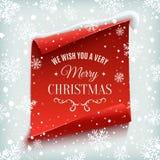 Merry Christmas greeting card. Stock Photo