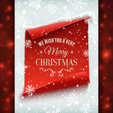 Merry Christmas greeting card. Stock Photo