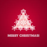 Merry Christmas Greeting Card with Words and Stock Image