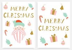 Merry Christmas greeting cards. vector illustration