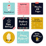 Merry Christmas greeting cards. Stock Photos