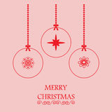 Merry Christmas greeting Stock Photography