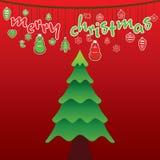 Creative merry christmas design Stock Photos