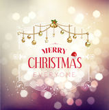 Merry Christmas greeting in floral frame Royalty Free Stock Photos