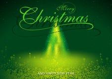 Merry Christmas Greeting Stock Photo