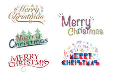 Merry Christmas Greeting Logo Stock Image