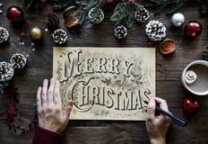 Merry Christmas Greeting Photo Royalty Free Stock Photo