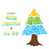 Merry christmas greeting or poster design Royalty Free Stock Photography