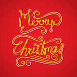 Merry christmas greeting or poster design Stock Images