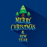 Merry christmas greeting or poster design Stock Photography