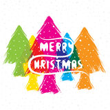 Merry christmas greeting or poster design Royalty Free Stock Image