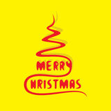 Merry christmas greeting or poster design Royalty Free Stock Images