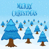 Merry christmas greeting or poster design Stock Image