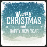 Merry Christmas Greeting Retro Card Royalty Free Stock Images