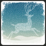Merry Christmas Greeting Retro Card. Vector. Illustration Stock Images