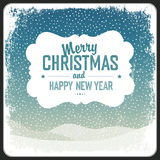 Merry Christmas Greeting Retro Card. Vector. Illustration Stock Photography