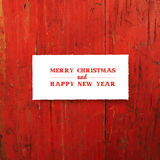 Merry Christmas Greeting Template Card. Vector Royalty Free Stock Photography