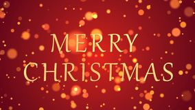 Merry Christmas Greeting text with sparkling particles shiny background stock video footage