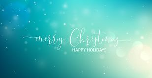 Merry Christmas Greeting Text. Vector stock photo