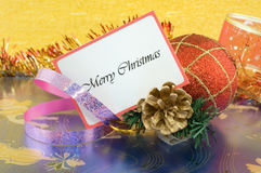 Merry Christmas greetings Stock Photography