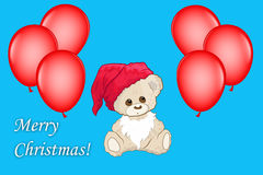 Merry christmas greetings card Stock Images