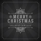 Merry Christmas Greetings Card or Poster Design Royalty Free Stock Images