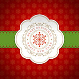 Merry Christmas Greetings Card or Poster Design Stock Images
