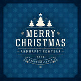 Merry Christmas Greetings Card or Poster Design Royalty Free Stock Photography