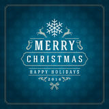 Merry Christmas Greetings Card or Poster Design Stock Photography