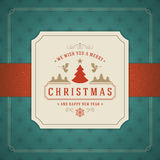 Merry Christmas Greetings Card or Poster Design Stock Photo
