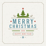 Merry Christmas Greetings Card or Poster Design Stock Photos
